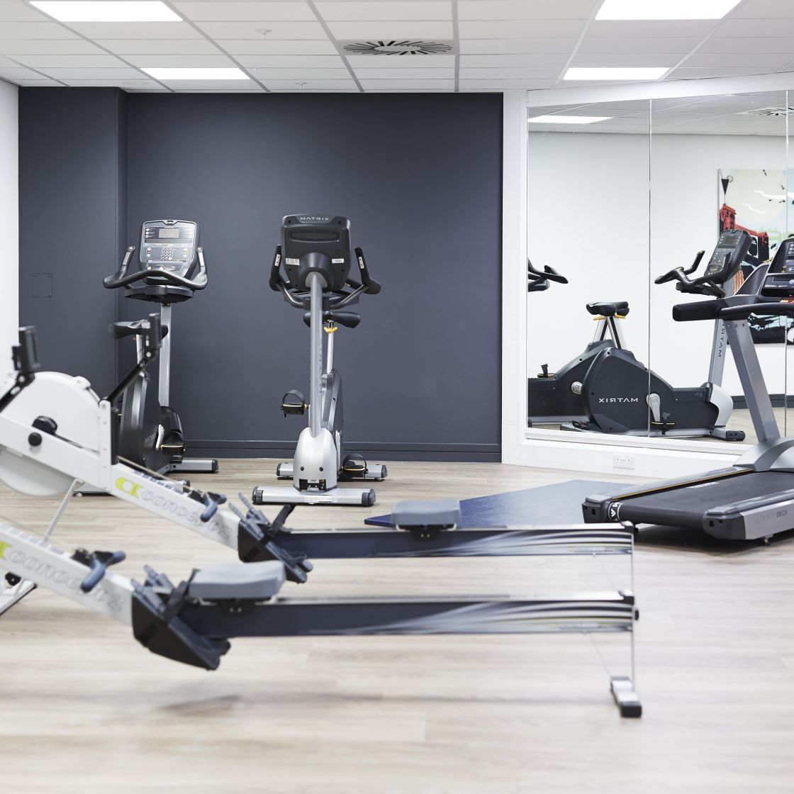 On-site gym with Strength and Cardio Equipment. IconInc @ Roomzzz Manchester Corn Exchange
