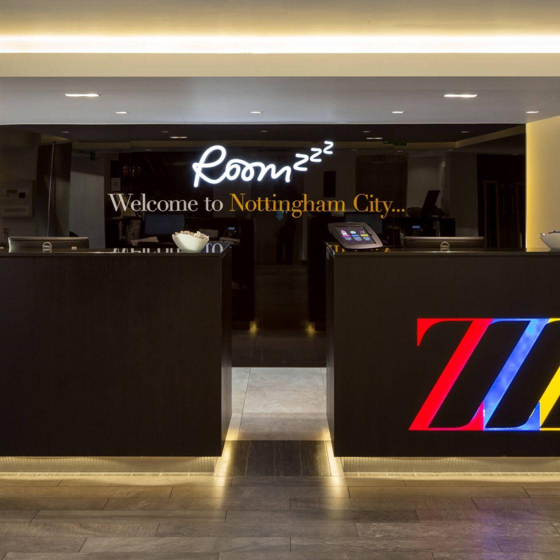 IconInc @ Roomzzz Nottingham City Reception Desk. Student Accommodation in Nottingham
