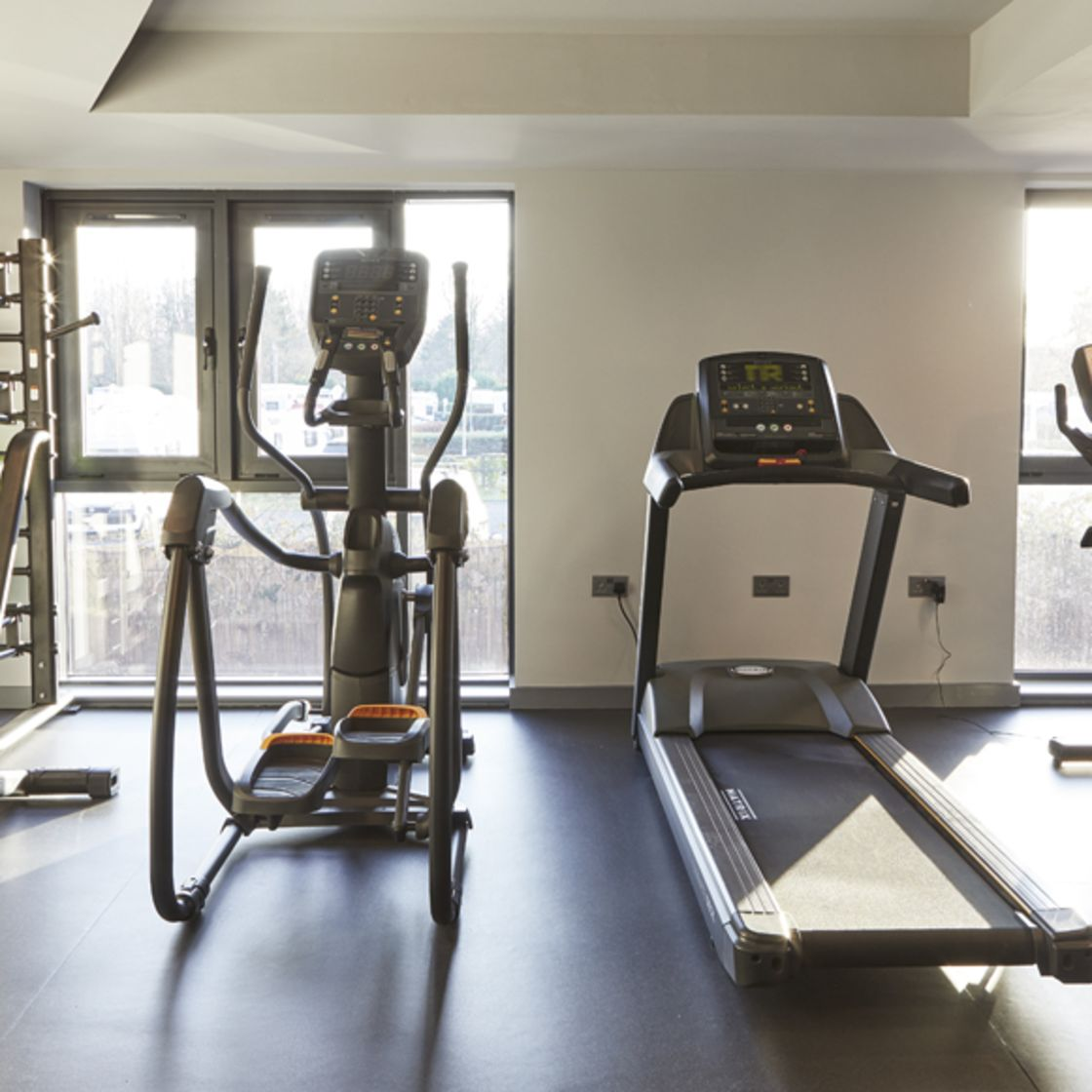 Treadmill and Crosstrainer in gym. IconInc @ Roomzzz. Student Accommodation in York