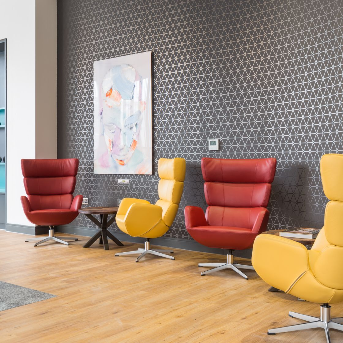 Lounge at IconInc, The Ascent. Student Accommodation in Liverpool
