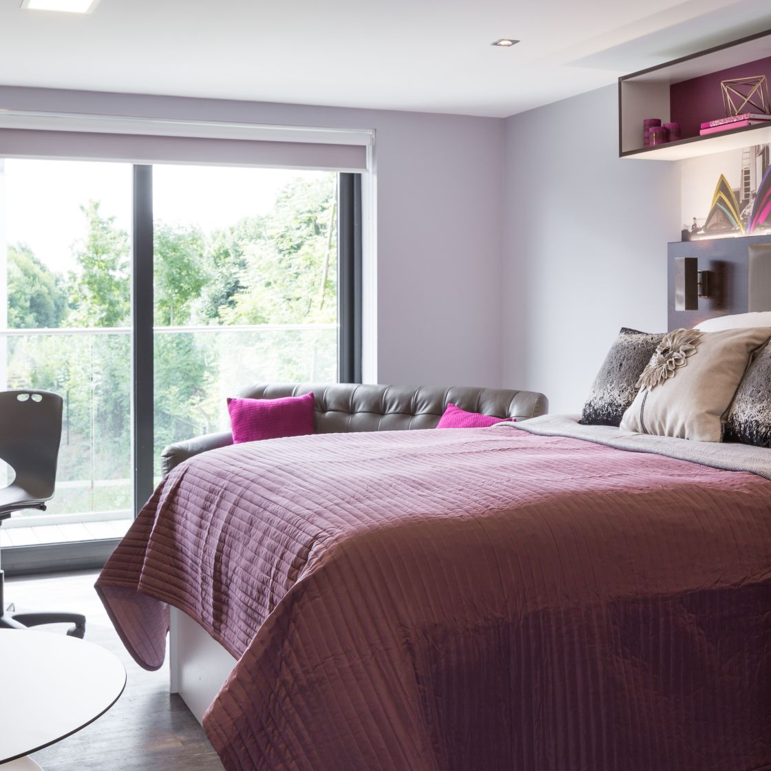 Elegance Student Apartment in Leeds with King Size Bed and Sofa. IconInc, The Glassworks.