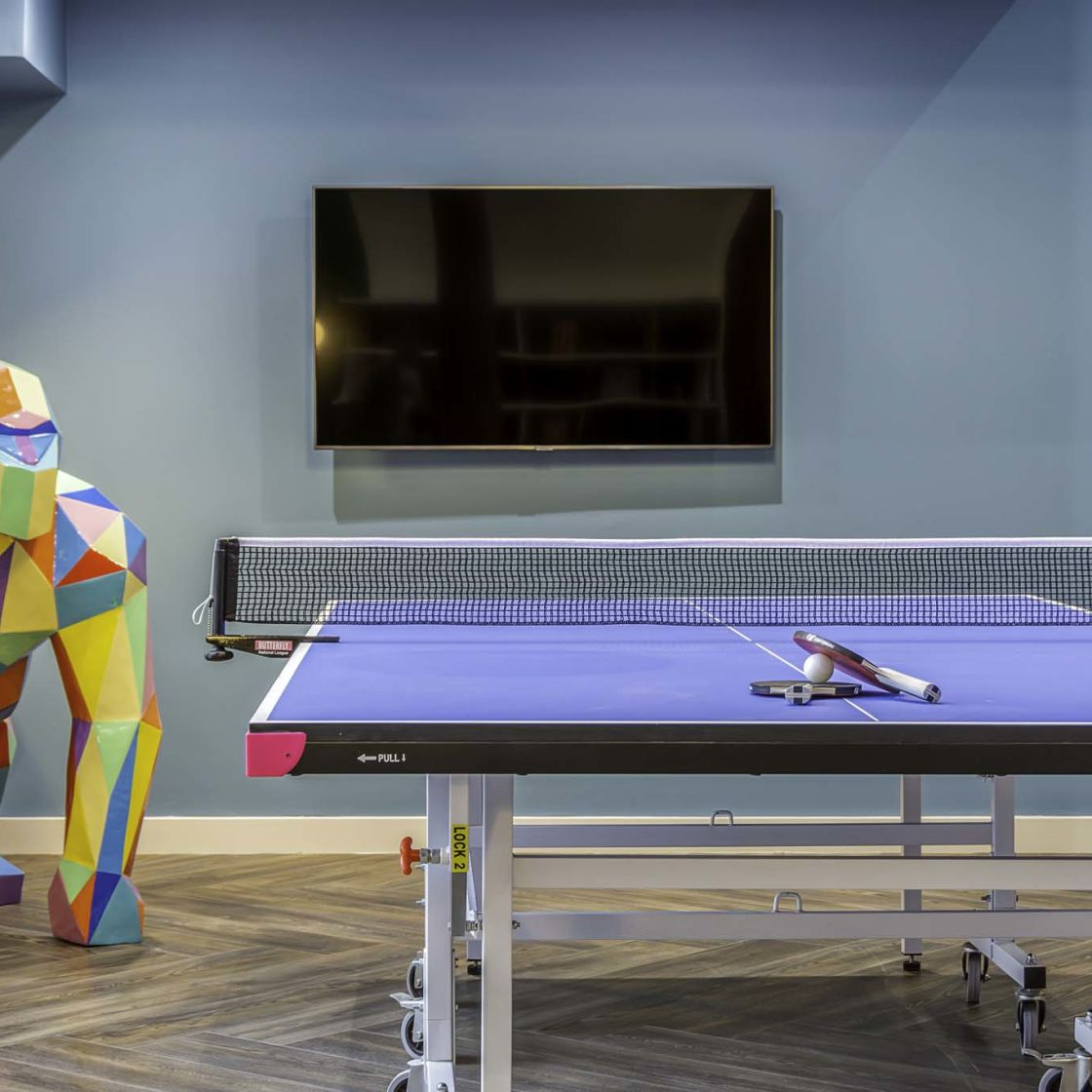 Games room with table tennis at IconInc Gravity, student accommodation in Lincoln