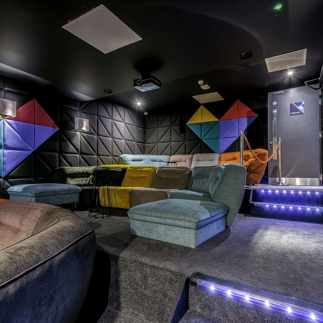Cinema at IconInc Gravity, student accommodation in Lincoln