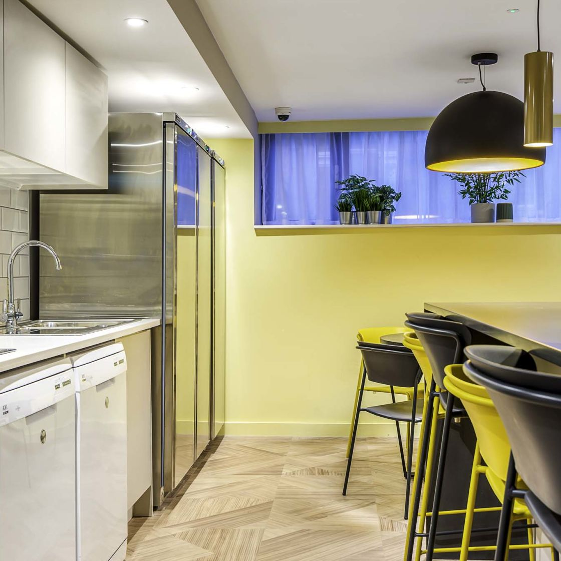 Mega kitchen at IconInc Gravity, student accommodation in Lincoln