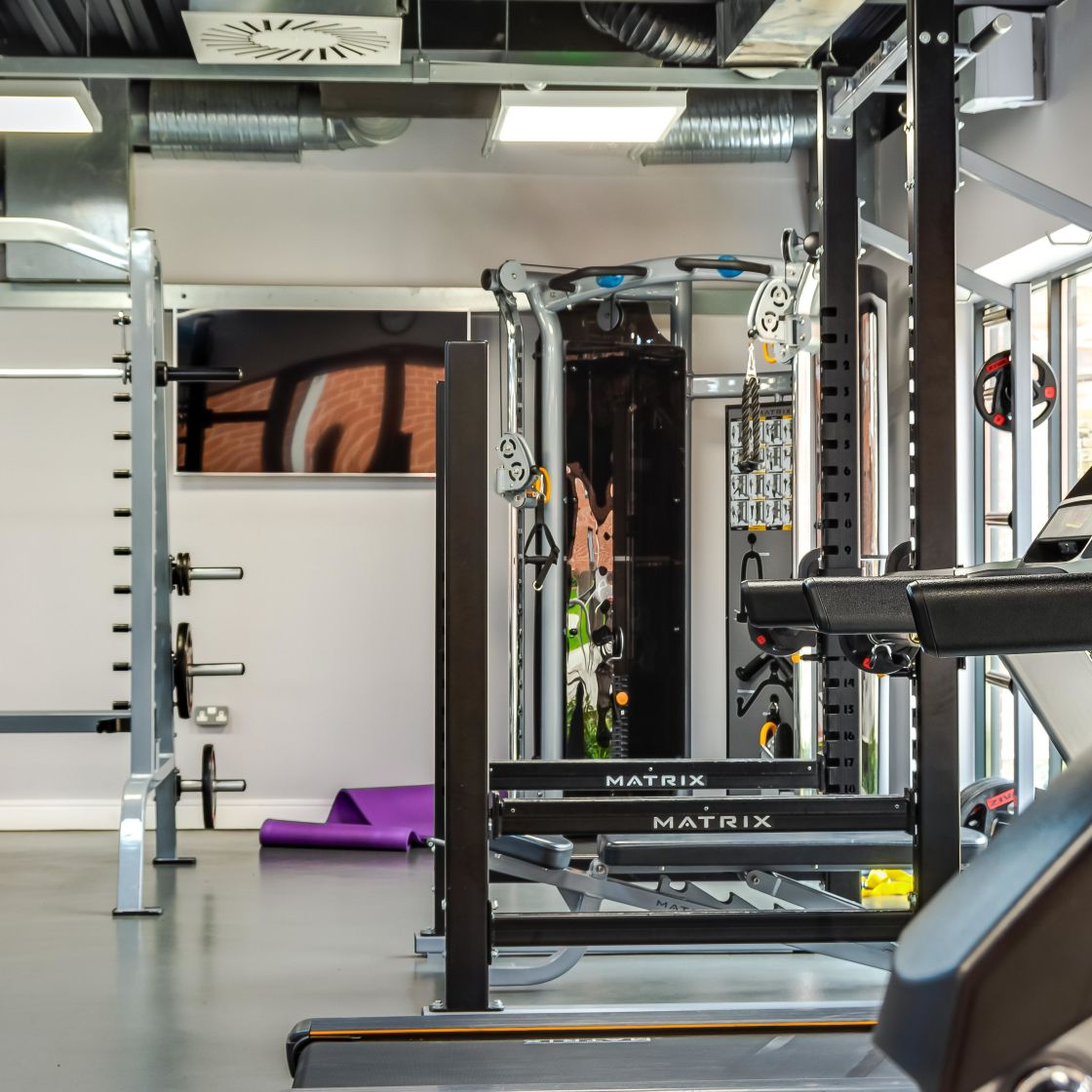 Gym with Treadmill and Strength Equipment at IconInc, The Glassworks