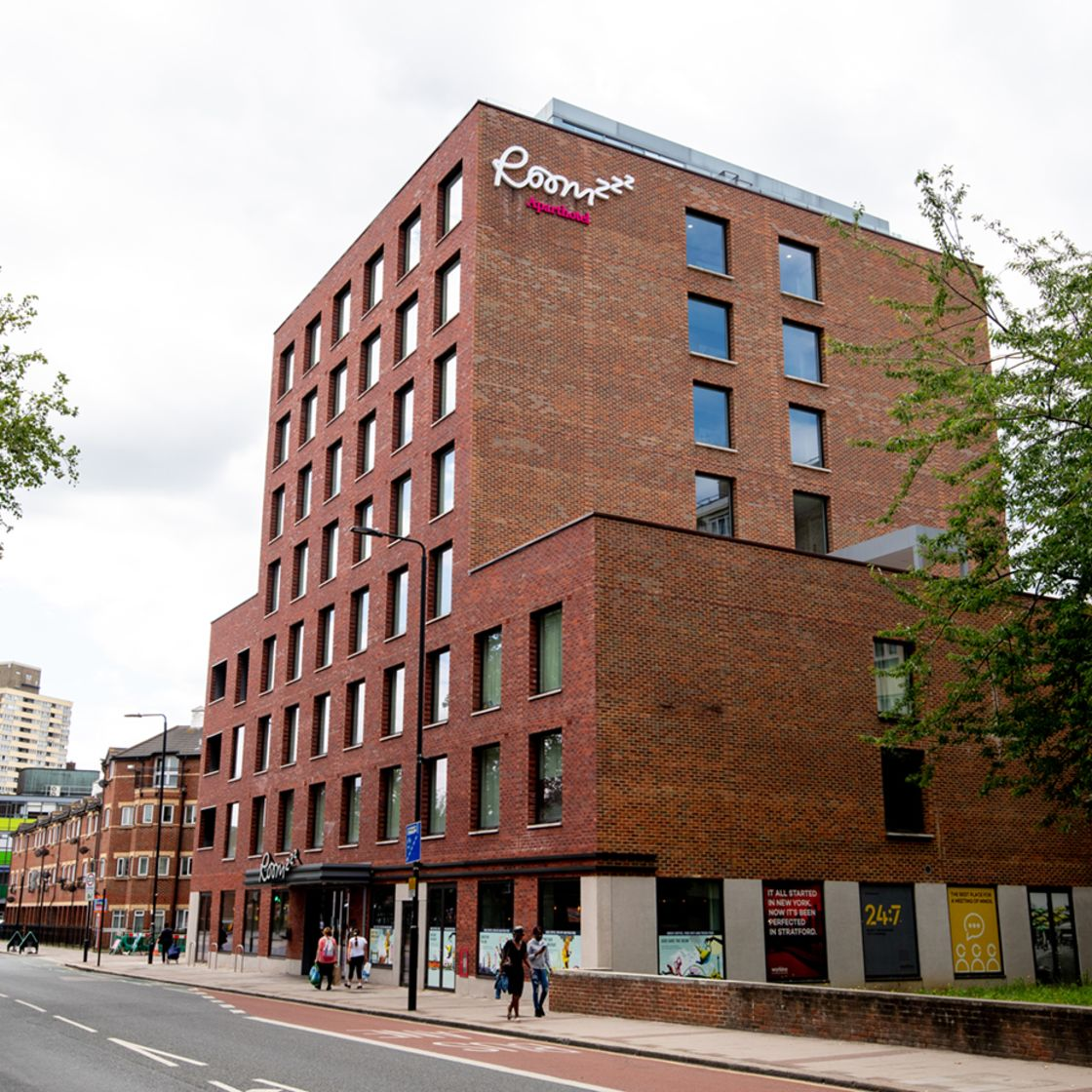 IconInc @ Roomzzz London Stratford Exterior. Student Accommodation in London