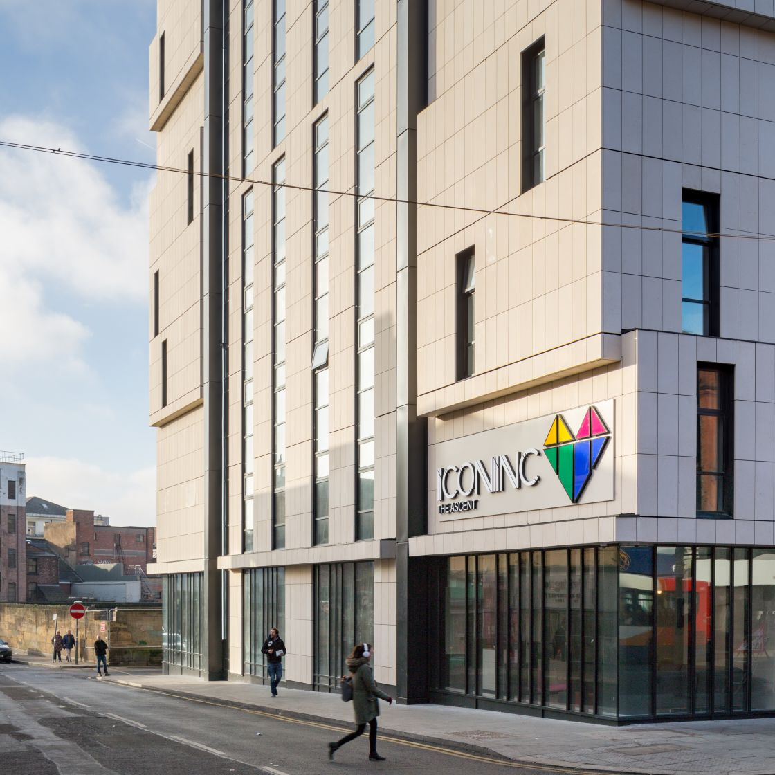 IconInc, The Ascent External. Student Accommodation in Liverpool