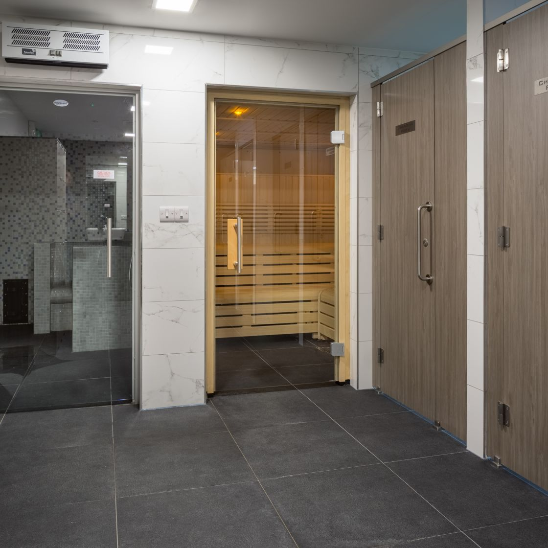 Suana and Steam Room at IconInc, The Ascent. Student Accommodation in Liverpool.