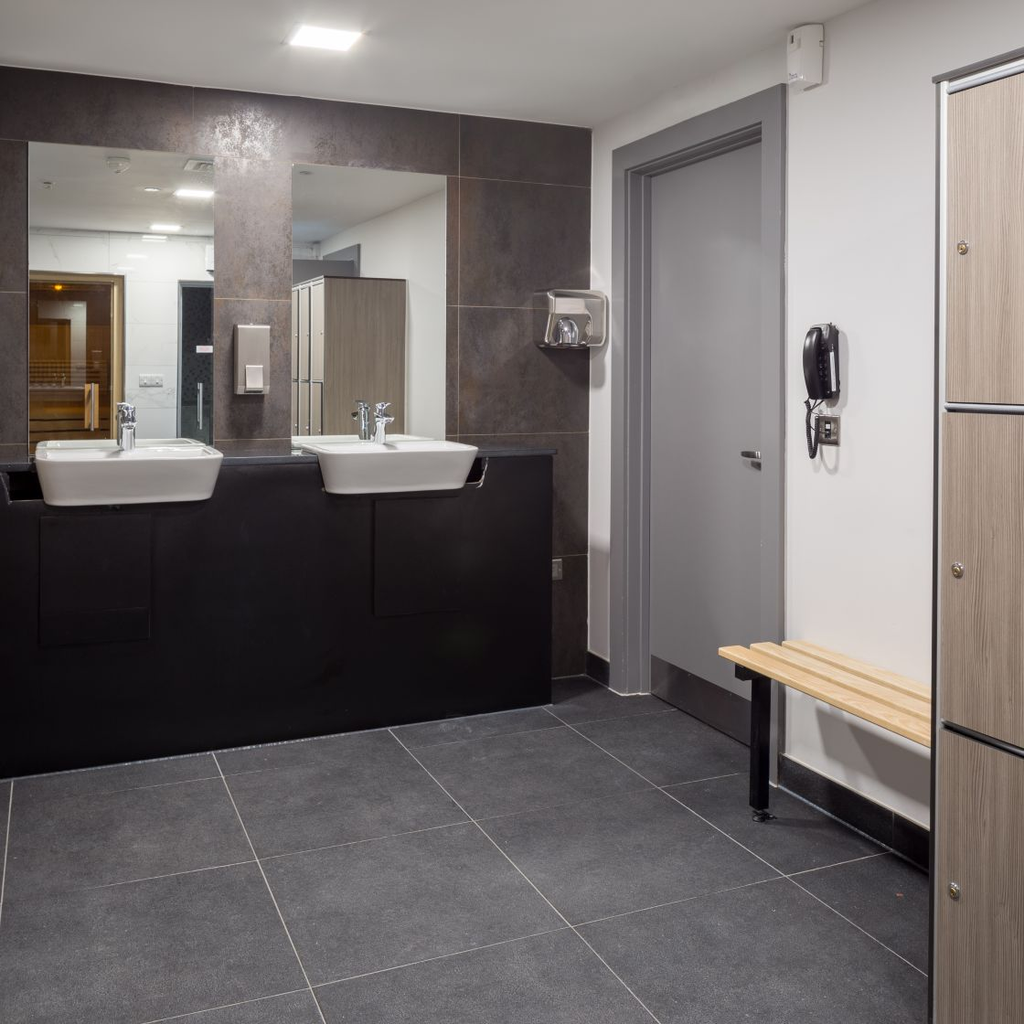 Changing room at IconInc, The Ascent. Student Accommodation in Liverpool
