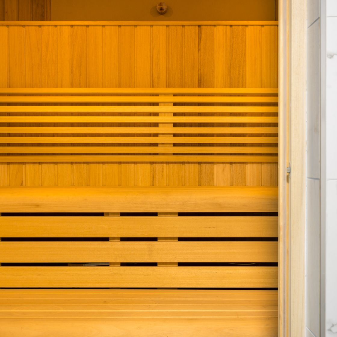 Sauna at IconInc, The Glassworks. Student Accommodation in Leeds
