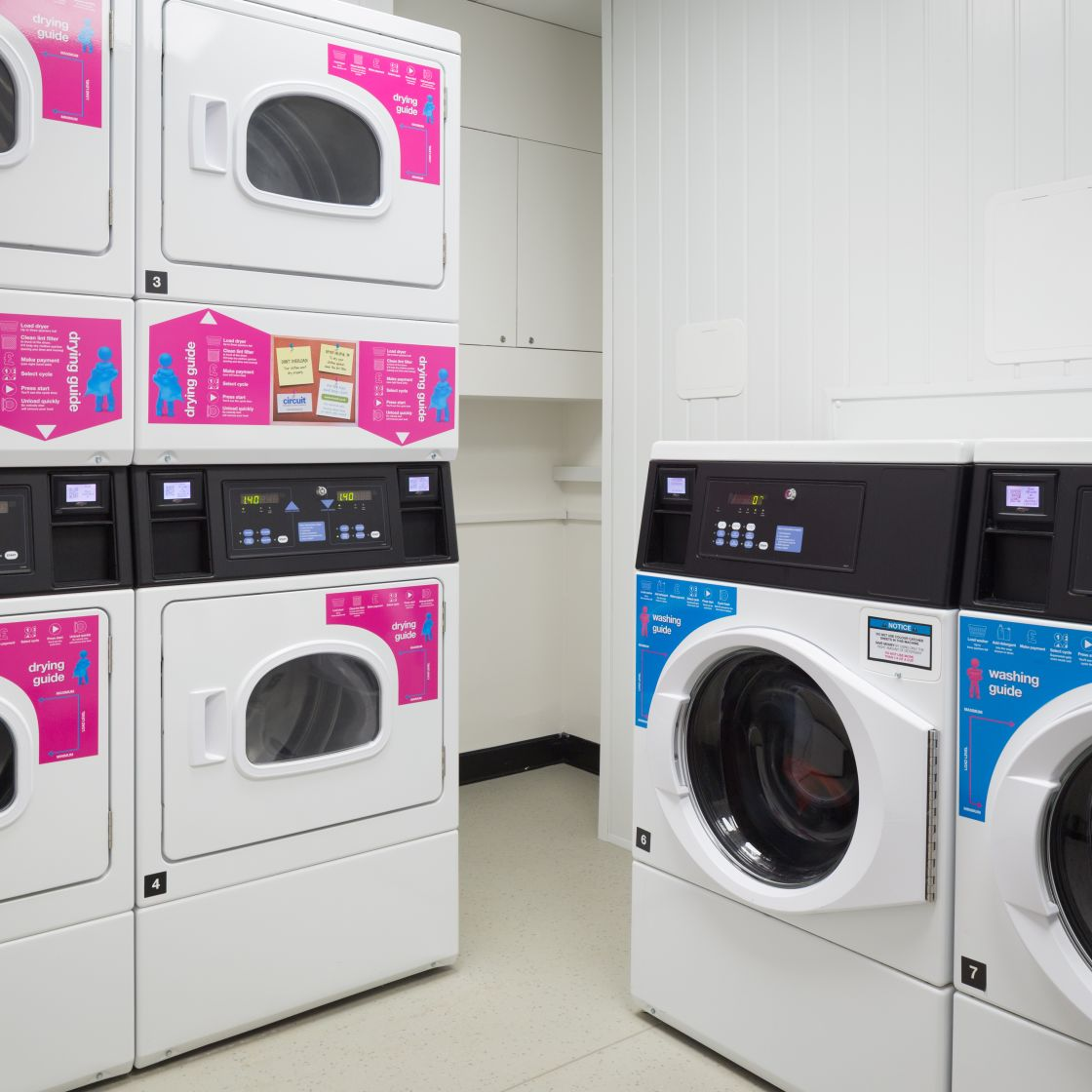Communal laundry room at IconInc, The Ascent. Student Accommodation in Liverpool