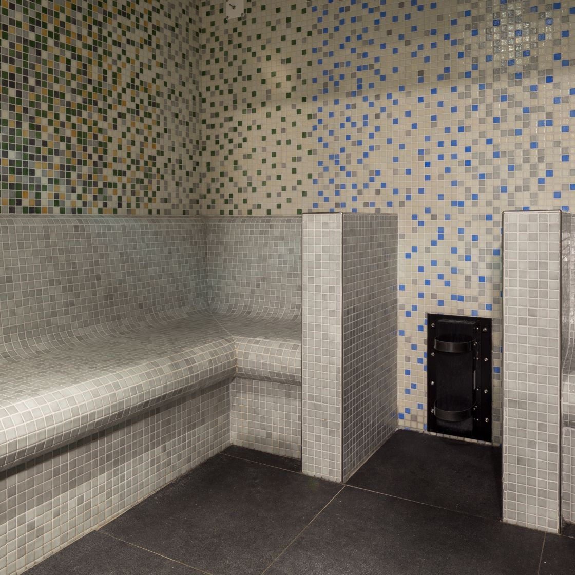 Steam room at IconInc, The Ascent. Student Accommodation in Liverpool