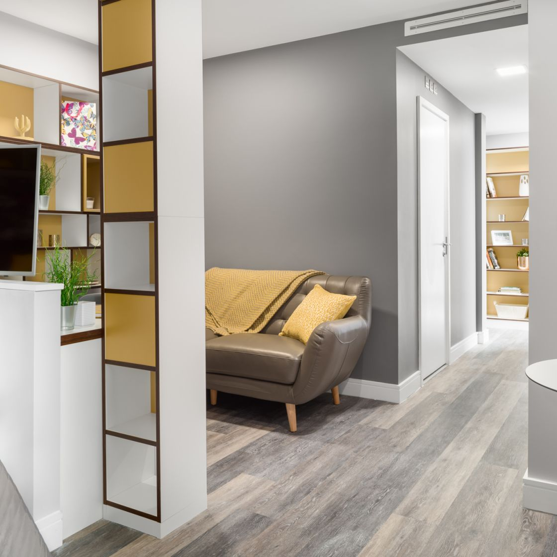 Grande Student Apartment in Liverpool. separate living area. IconInc, The Ascent