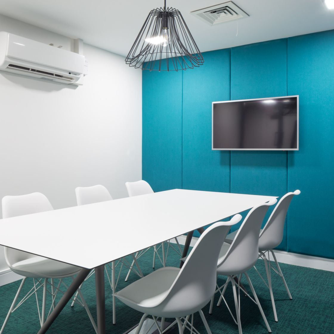 Blue Private Study Room at IconInc, The Ascent. Student Accommodation in Liverpool