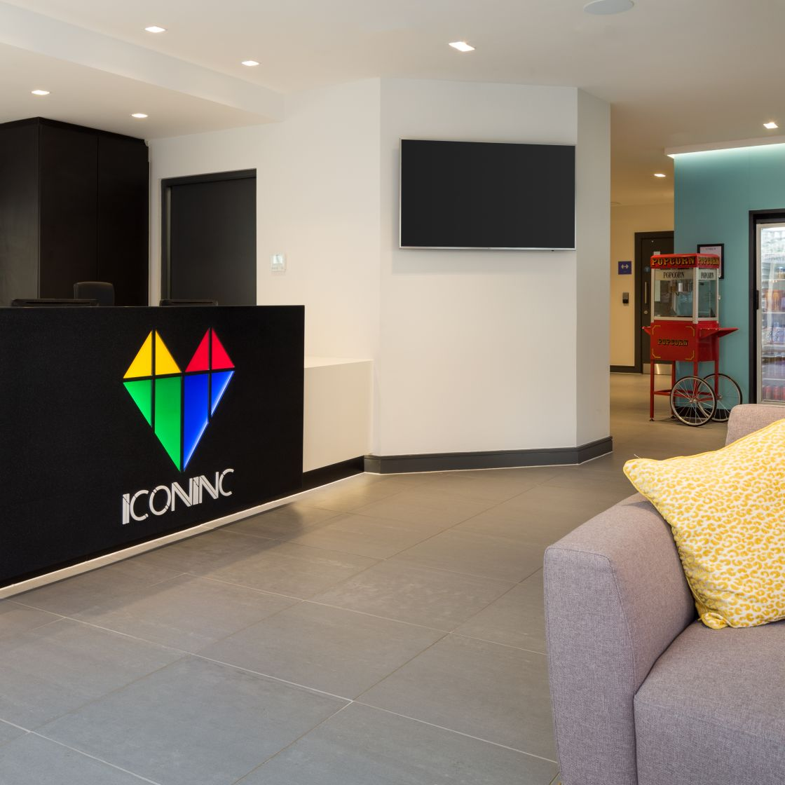 24 hour reception lounge at IconInc, The Ascent. Student Accommodation in Liverpool