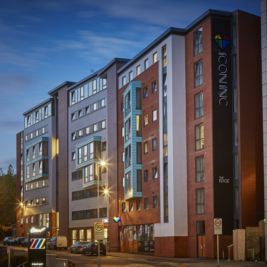 IconInc Gravity External. Student Accommodation in Leeds
