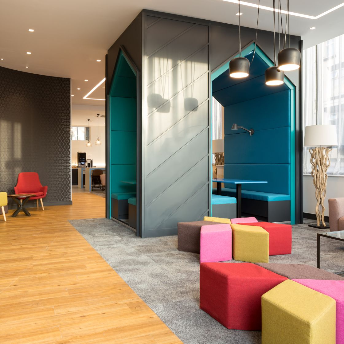 Study area at IconInc, The Ascent. Student Accommodation in Liverpool