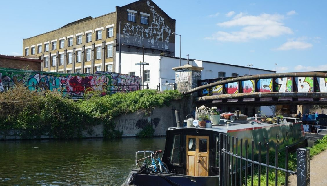 The canal at Hackney Wick in East London