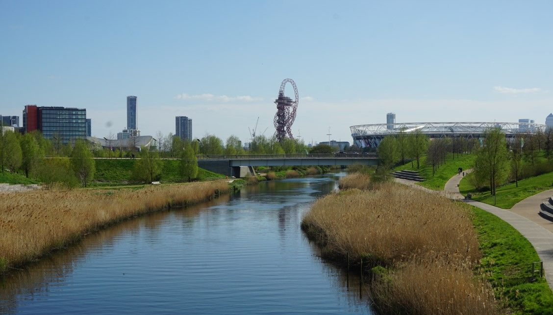 A view of the Olympic Park in London Stratford, a great place for dates!