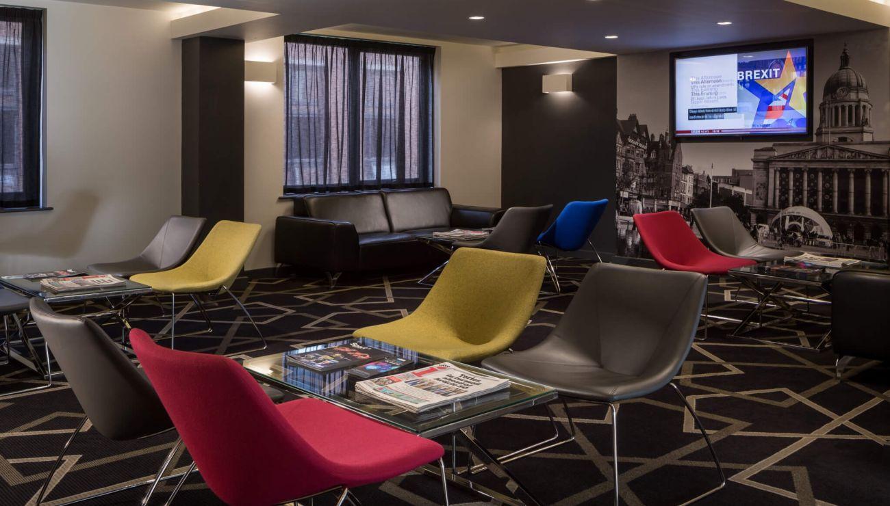 24 hour reception lounge at IconInc @ Roomzzz Nottingham