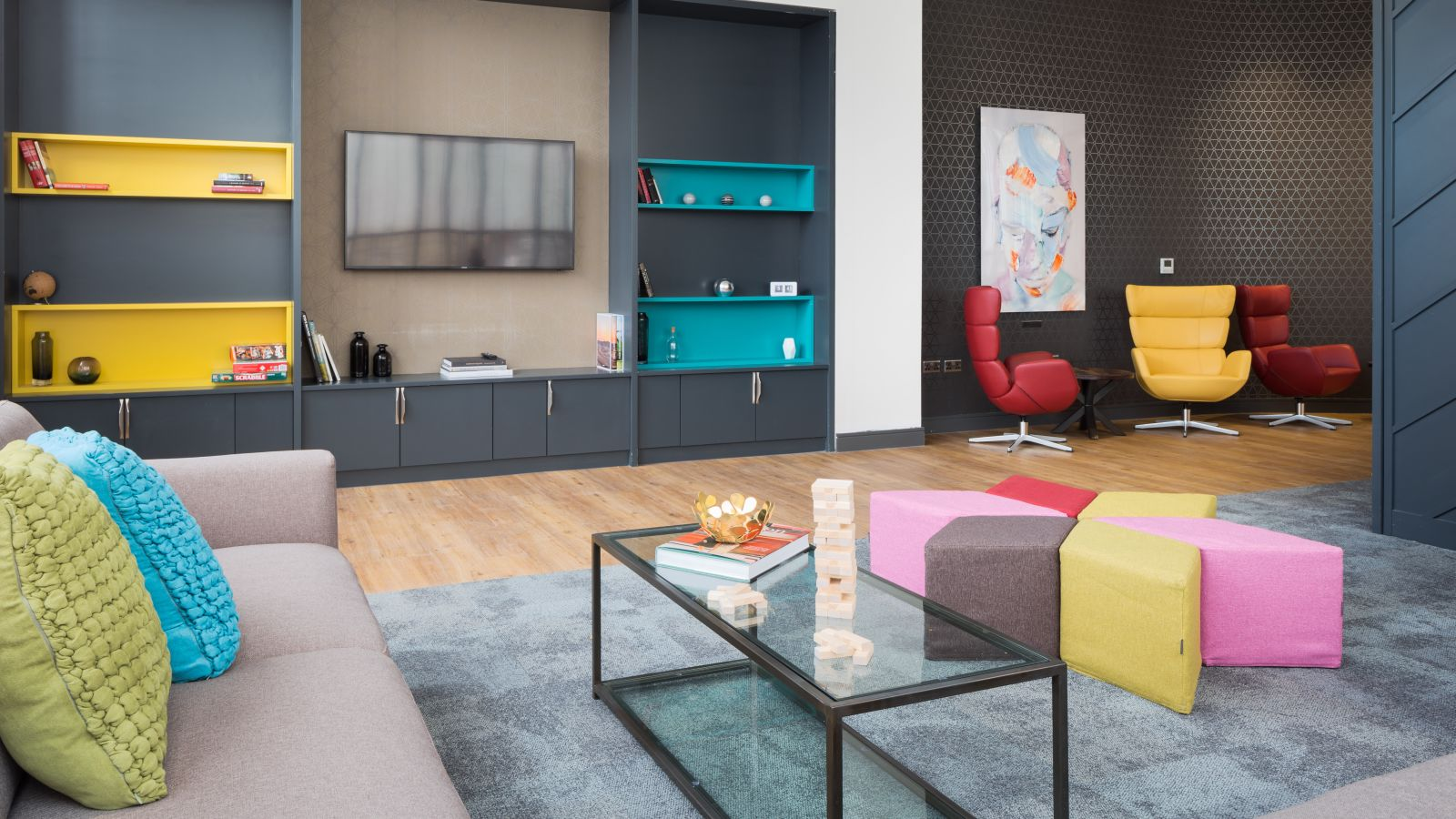 Lounge at IconInc The Ascent. Student Accommodation in Liverpool.