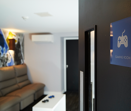Gaming Zone at IconInc, The Edge. Student Accommodation in Leeds