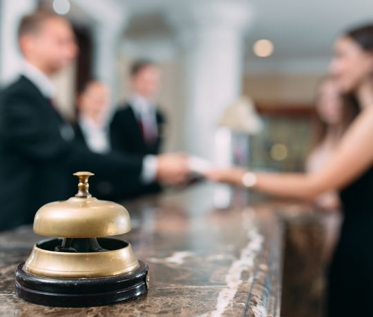 Concierge checking-in guest. IconInc @ Roomzzz Chester. Student Accommodation in Chester