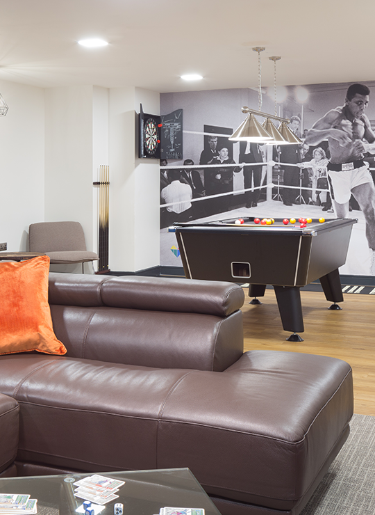 Gaming zone with pool table at IconInc. Student Accommodation in Liverpool