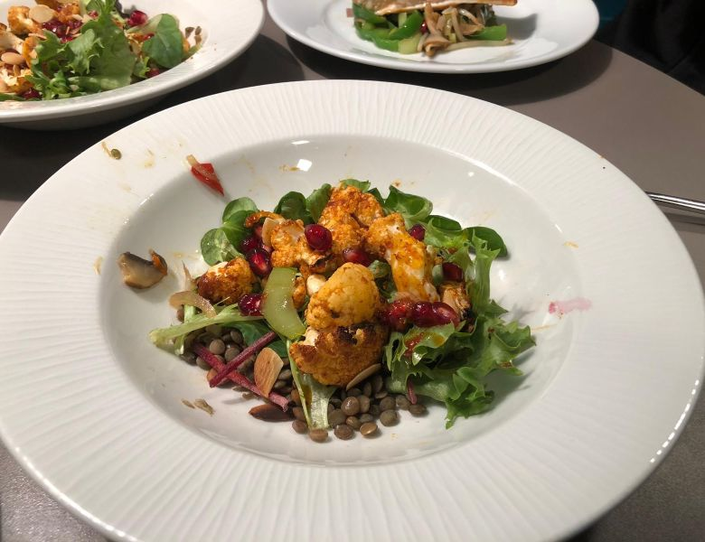 A healthy salad starter created by IconInc students with help from Chris Hale.