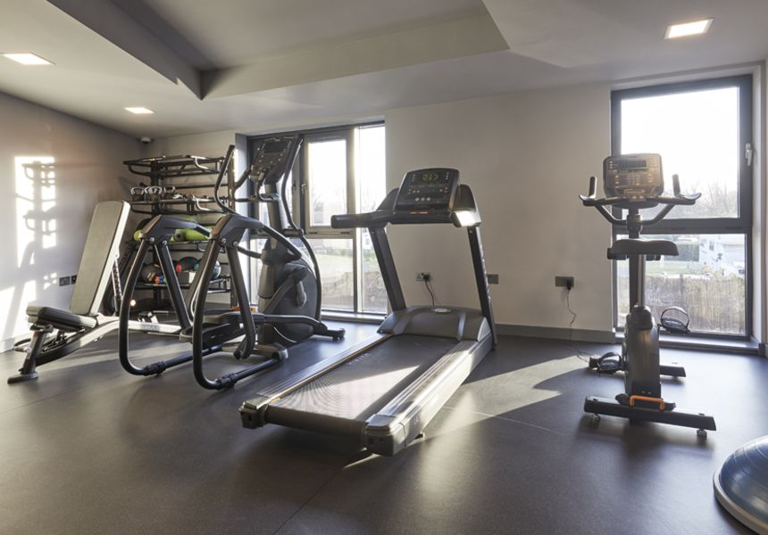 On-site gym with strength and cardio equipment. IconInc @ Roomzzz. Student Accommodation in York