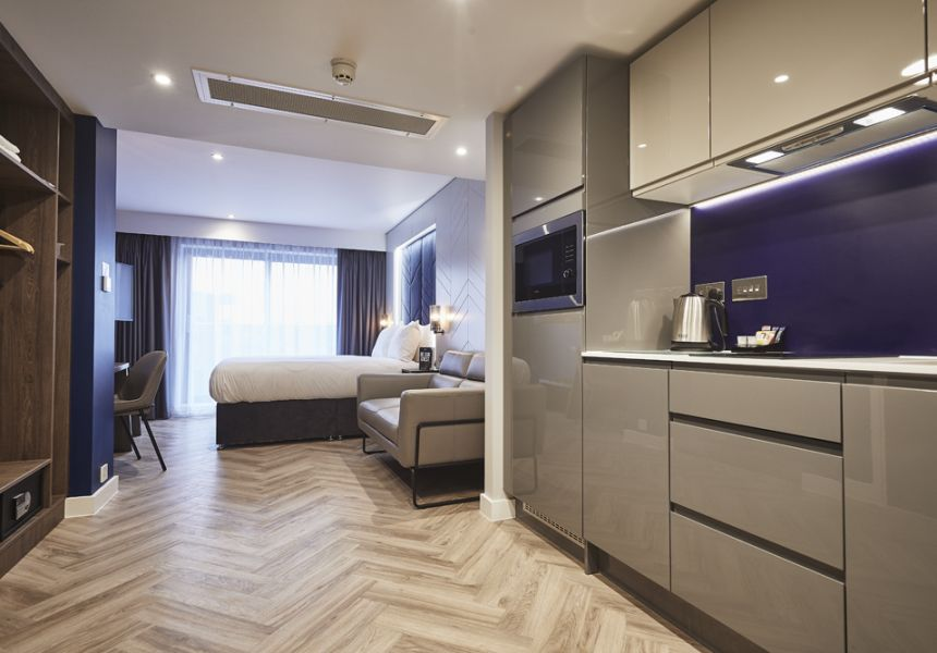 Smart Studio Student Apartment in York with Fully Equipped Kitchen and King Size Bed. IconInc @ Roomzzz