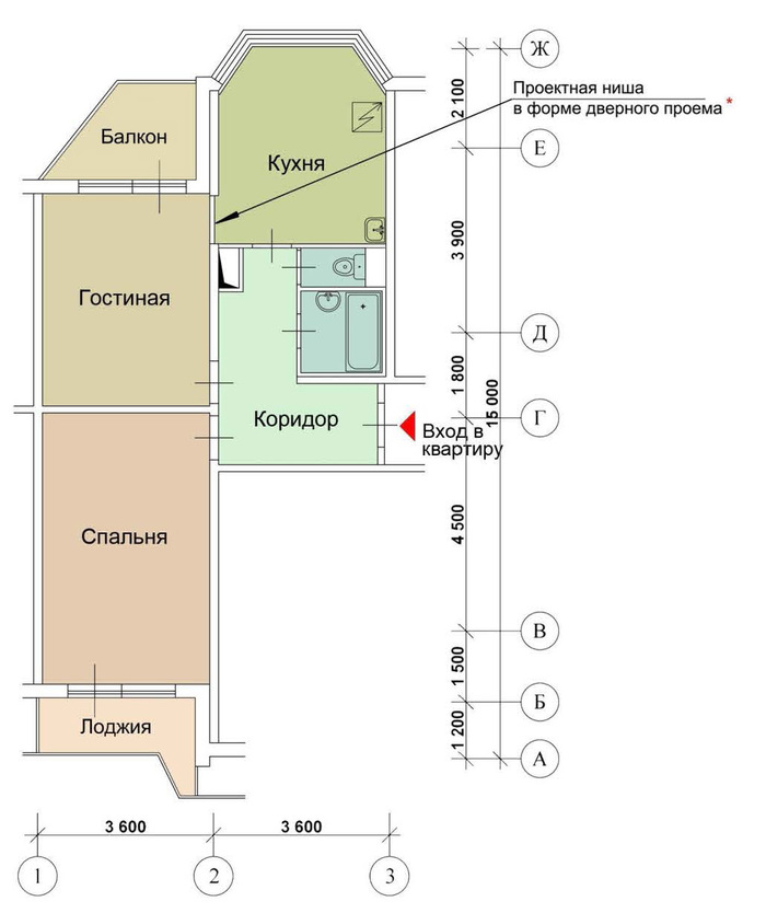 Перепланировка в домах серии П-44Т