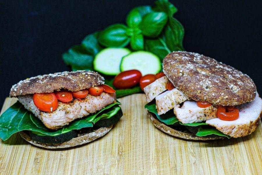 Schnelle Protein-Vollkorn-Burger