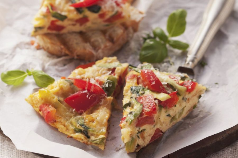 Zucchini-Paprika-Tortilla