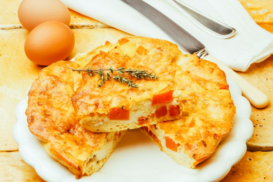 Omelette mit Kürbis und Thymian