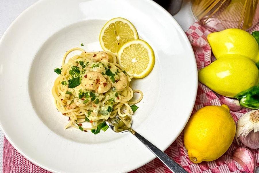 Knoblauch-Butter-Garnellen-Spaghetti