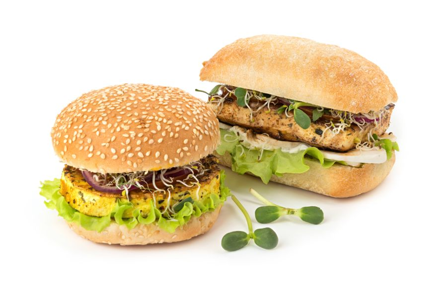 Tofu-Sprossen-Burger