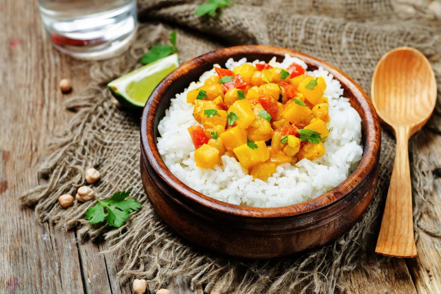 Cremiges Kokos-Curry mit Kürbis