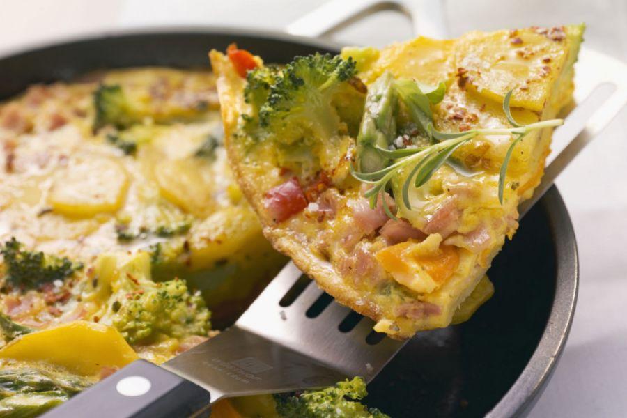 Kartoffel-Omelett mit Gemüse