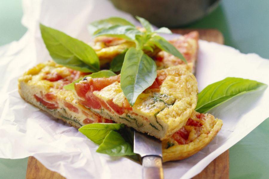 Tomaten-Basilikum-Omelette