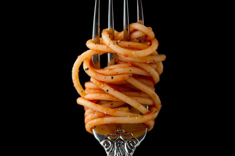 Spaghetti mit Mandel-Linsen-Pesto