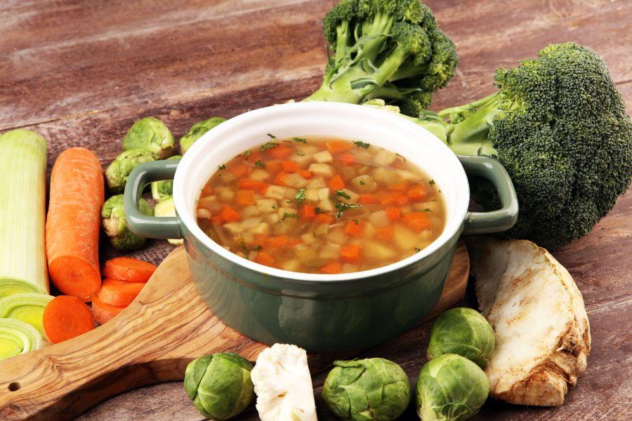 Einfacher Gemüseeintopf