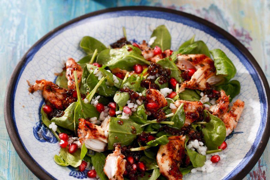 Hähnchen-Spinat-Salat