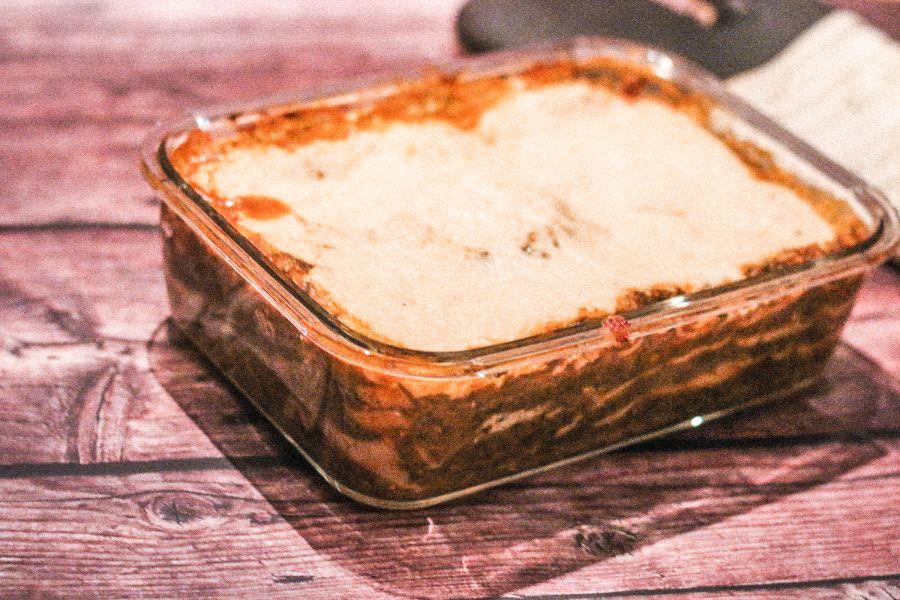 Spinat-Linsen-Lasagne