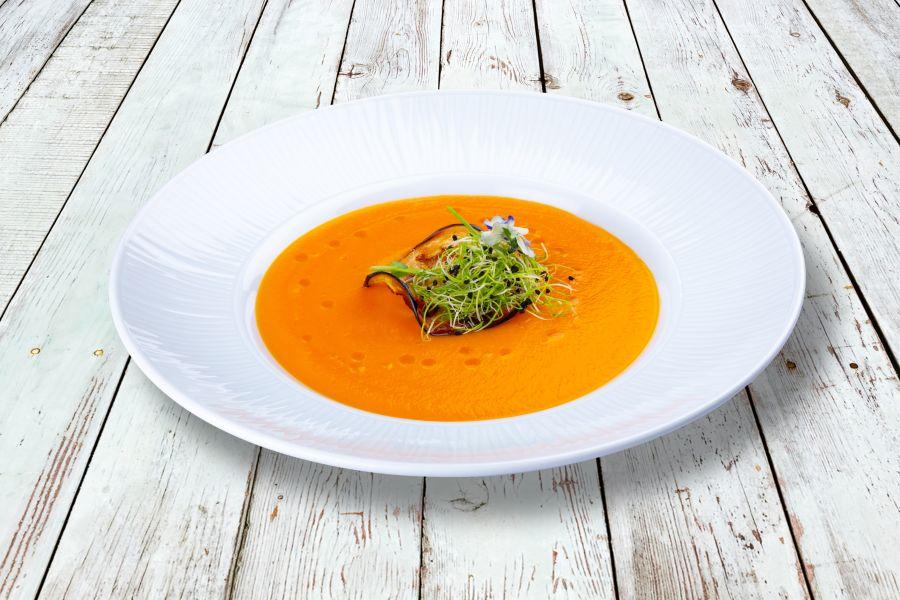 Zucchini-Tomaten-Cremesuppe