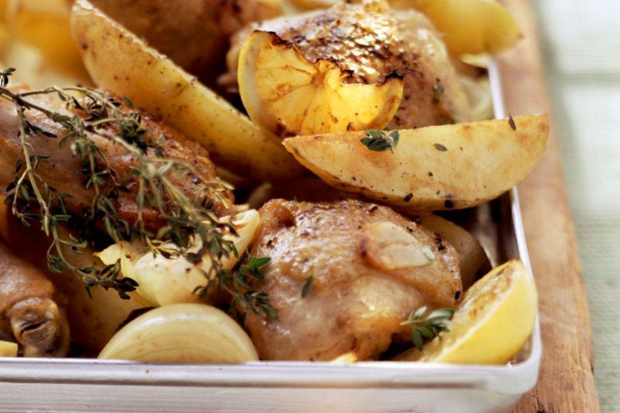 Knoblauchhähnchen aus dem Ofen