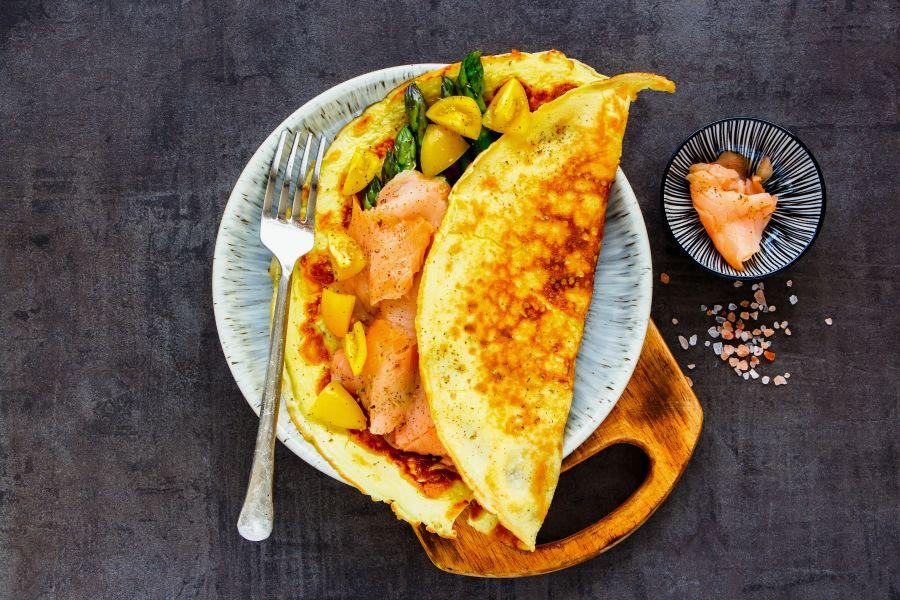 Räucherlachs-Omelette