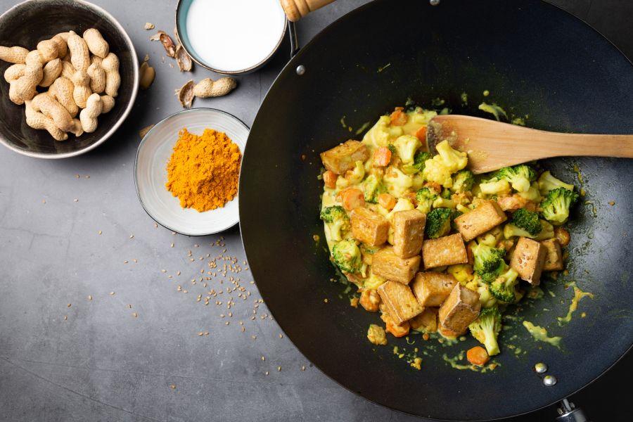 Schnelles Gemüse-Tofu-Curry
