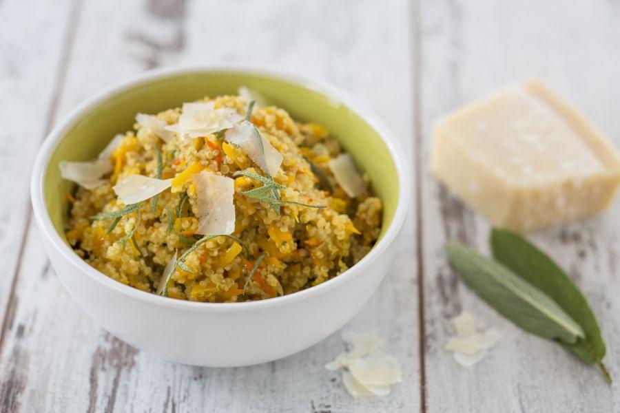 Quinoa-Risotto mit Kürbis und Parmesan