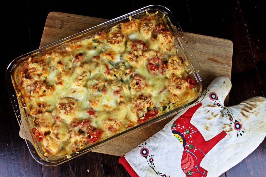 Tortellini-Mozzarella-Auflauf